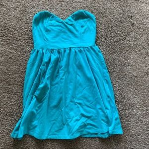 Blue Forever 21 Strapless Sundress